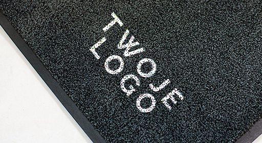 Mata wejściowa z firmowym logo