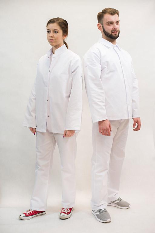 Serwis odzieży firmowej białej